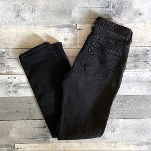 Levi's | Black Demi Curve Mid Rise Slim Jeans 2/26
